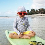【即納】キッズ水着 男の子 ラッシュガード & パンツ & 帽子 3点セット