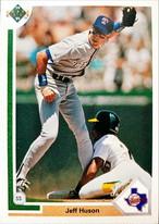 MLBカード 91UPPERDECK Jeff Huson #195 RANGERS