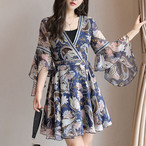 【dress】お流行り洗練された綺麗なプリントワンピース 22598404
