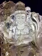 1) 超極美品「龍神観音像」レインボー水晶