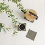 手織りコースター(Coaster Herringbone Linen #1)