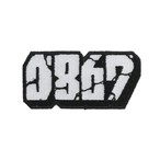 0867 / Patch / Blockbuster / Logo / White × Black