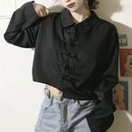 【4/26まで30%OFF!!】ショート丈 チャイナ シャツ 2色 B7150