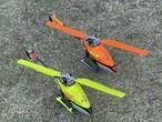 ノーマルFligt向き◆M2同一形状互換メインカラーブレード フライト中の視認性がUPします。カラー / オレンジ&イエロー