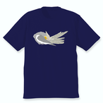 羽づくろうオカメインコTシャツ(ノーマル女の子)ネイビー
