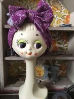 magic turban purple×gray