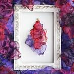 『優美』魅惑の炎 no,2  |赤と紫のゆれるアートピアス