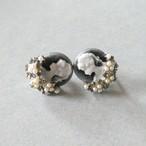 70s vintage cameo earrings