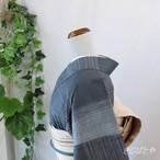 正絹紬 錫紵(しゃくじょ)に格子の小紋 袷