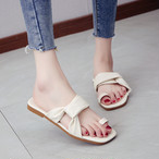 【shoes】合わせやすいカジュアル歩きやすい大人気スリッパ