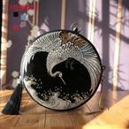 チャイナ風バッグ 手作りバッグ 手持ちショルダー チェーンバッグ 宴会 二次会 女子会 パーティー チャイナドレスバッグ 漢服バッグ プレゼント 鶴刺繍入り ブラック 黒い ブルー 青い レッド 赤い グレー 灰色