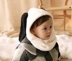 【即納】ふわもこ たれ耳 スヌーピー  アームウォーマー  ベビー キッズ baby kids 韓国子供服帽子 韓国子供服ネックウォーマー 韓国子供服 子供服フードウォーマー