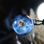 ガラスの惑星宇宙ペンダント/【訳あり、試作品】20210119-1