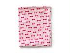 ハリネズミ用寝袋 L(夏用) 綿リップル×スムースニット リボン ピンク