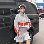 【即納】スポーティーミックス ワンピース スカート【0324】