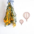 木製 / レターバナー  イラストモチーフ(気球)