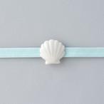 白磁の帯留め 貝