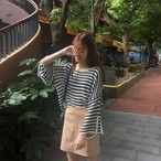 【新作10%off】striped sweater blouse 2733