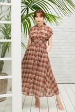 Cotton-Blend Voile Shirt Dress