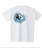 販売終了いたしました!2021春のハワイ企画 限定デザイン! なんとマグカップ or トートバッグ&缶バッジ付き!No.004 スキューバシリーズ・サメとコーギー! 5.6ozTシャツ 3/31まで
