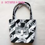 【送料無料】 HANA circus original ファスナー付き トートバッグ 3種類 はちわれ きじとら 黒猫
