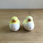 卵から生まれるひよこ 陶器 ソルト&ペッパー入れ
