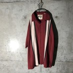 [used] two white lined dark red shirt