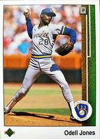 MLBカード 89UPPERDECK Odell Jones #608 BREWERS