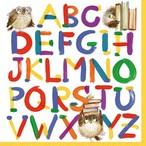 入荷しました|新入荷【ti-flair】バラ売り2枚 ランチサイズ ペーパーナプキン Colourful Alphabet ホワイト