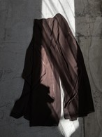 Canada vintage sheer wide pants - brown -