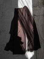 Canada vintage sheer wide pants - brown -