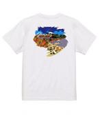 No.2021-Autumn-TS-004 :  2021秋の新デザイン 秋のグランピング  紅葉と湖Tシャツ5.6oz