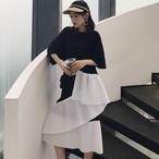 【dress】気質アップ切り替えプルオーバーカジュアルワンピース22064032