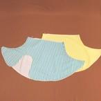 スリット入りミニスカート/水色ストライプ・黄色ストライプ