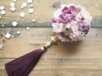 Tassel boule de fleurs<Bordeaux> * タッセルフラワーボール