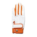 【Ladies'】 Elegant Glove white-orange <左手>
