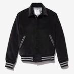 Corduroy Varsity Jacket(Black)