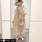 【送料無料】 ラフでもお洒落♡ ロングワンピース カジュアル ゆったり ジャンパースカート