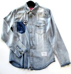 EFFECTEN/エフェクテン denimshirts'Out sider'(SAX)