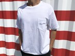ThreeArrows ポケット付きBIGシルエットTシャツ(white)