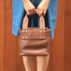 Leather boxtotobag(brown)