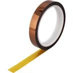 ◆ポリイミドフィルム絶縁耐熱テープ 高耐熱テープ 15mm幅 30m長さ シリコン系粘着剤塗布テープ 1個