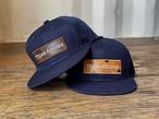 【糸島店2周年記念アイテム】《WEB受注限定販売》ThreeArrows BOX LOGO CAP (navy)