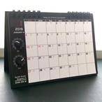 【カレンダー】SKM-365・アナログシンセカレンダー2019 卓上/黒×ホワイト