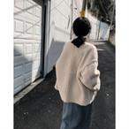 ノーカラー ボア ジャケット ブルゾン もこもこ 長袖 ゆったり CUTE カジュアル エレガント aya2667