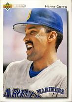 MLBカード 92UPPERDECK Henry Cotto #616 MARINERS