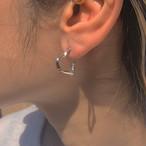 bone HEART Hoop Earring 片耳 #1850
