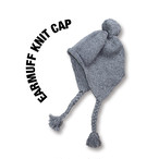 Earmuff knit cap [Gray]