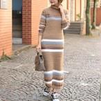Soft Striped Knit Dress 6AW003-18  |インスタでも話題の海外セレブ系レディースファッション Carpe Diem