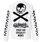 【予約商品】RAKUGAKI Stencil Skull Logo Long T-Shirts White